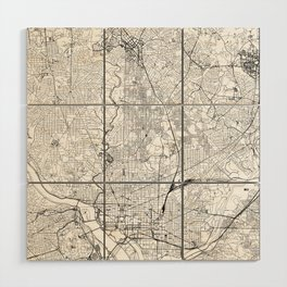 Washington D.C. White Map Wood Wall Art