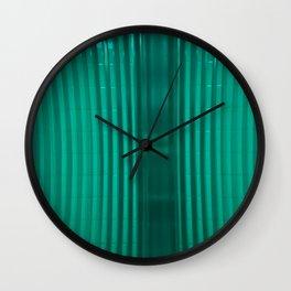 bathroom glass and subway tile Wall Clock