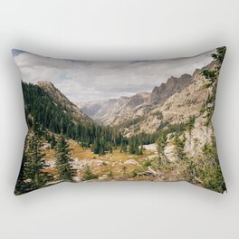 The View from Above 10,000 ft - Wyoming Wilderness Rectangular Pillow