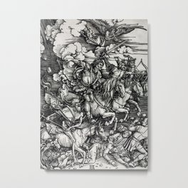 Albrecht Dürer Four Horsemen of the Apocalypse Metal Print