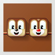 chip and dale Canvas Print