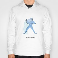 aquarius Hoodies featuring Aquarius by Dano77