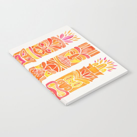 Tiki Totems – Orange Ombré Notebook