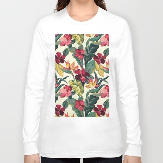 Colorful tropical garden Long Sleeve T-shirt