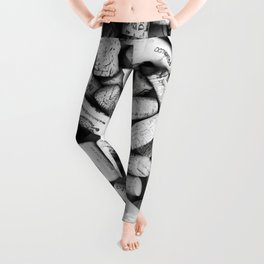 Something Nostalgic II Twist-off Wine Corks in Black And White #decor #society6 #buyart Leggings