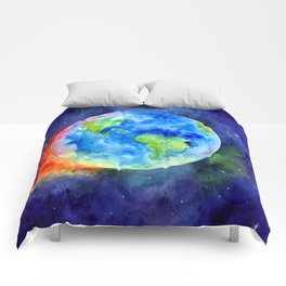Watercolor painting of Earth Comforters