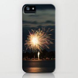 Fireworks Over Lake 34 iPhone Case