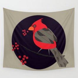 Cardinal Song Wall Tapestry