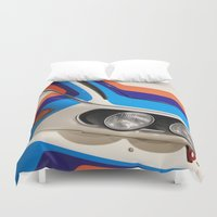 bmw Duvet Covers featuring BMW CSL by Internal Combustion