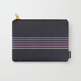 Pink Colored Retro Stripes Carry-All Pouch