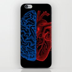 Heart and Brain iPhone & iPod Skin