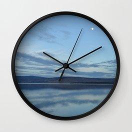 Klamath Lake with Moon reflecting Wall Clock