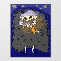 dark souls Canvas Prints featuring Dark Souls- Goodnight Nito by Mango Mamacita