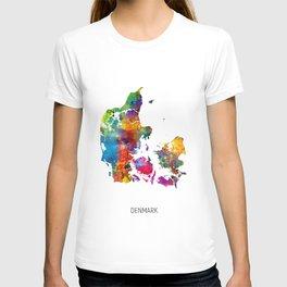 Denmark Watercolor Map T-shirt