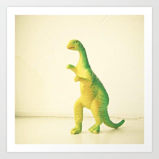 Dinosaur Attack Art Print