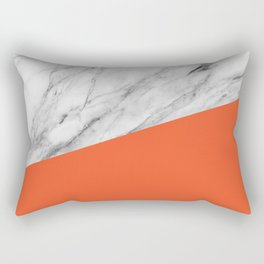 Marble and Flame Color Rectangular Pillow