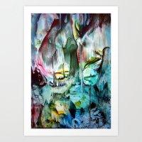 waterfall Art Prints featuring WaterFall by ART de Luna