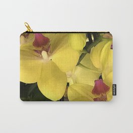 Vibrant Yellow Orchid Flowers 'Waterfall' Photo Carry-All Pouch