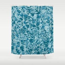 'The Big Swim' water camo Shower Curtain