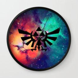 The Legend of Zelda Triforce Multicolored Stars Wall Clock