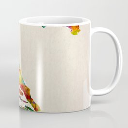 Croatia Map in Watercolor Coffee Mug