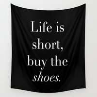 shoes Wall Tapestries featuring SHOES by I Love Decor