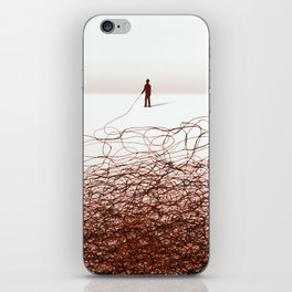 Drawn with a stick iPhone Skin