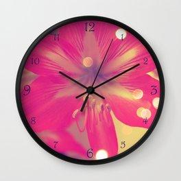 Secret Garden  Pink tigress  Wall Clock