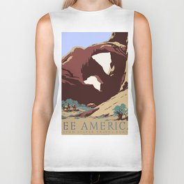 See America National Park Poster Biker Tank