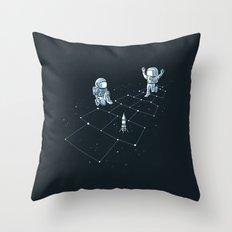 Hopscotch Astronauts Throw Pillow