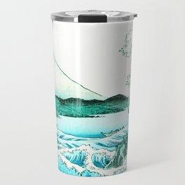 The Sea at Satta : Aqua Teal Travel Mug