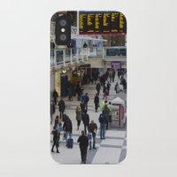 liverpool iPhone & iPod Cases featuring Liverpool Street Station London by David Pyatt