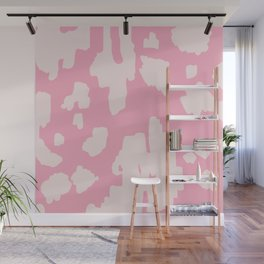 Modern Abstract Ikat Pink P  #homedecor Wall Mural