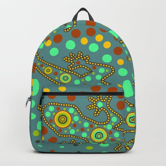 Lizards- aboriginal art Backpack