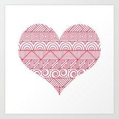 Patterned Valentine Art Print