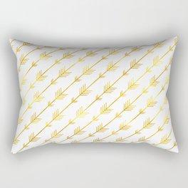 Gold Arrows Rectangular Pillow