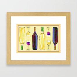 Let's Have Some Wine Framed Art Print