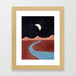 Moonscape Framed Art Print