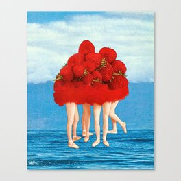 Strawberries dancers of the Sea Canvas Print