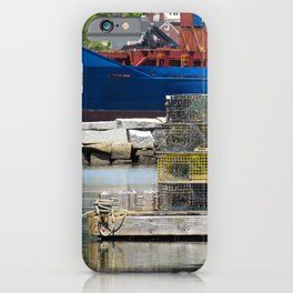 Fore River Lobster Traps iPhone Case