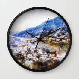 Snowy Heidelberg Wall Clock