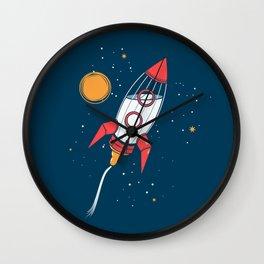 Bottle Rocket to the Milky Way Wall Clock