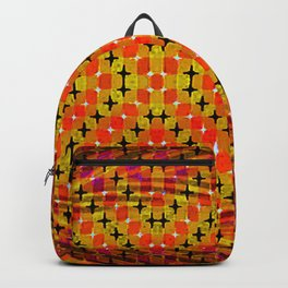 FLUX #2  Optical Illusion Vibrant Colorful Psychedelic Trippy Design Backpack