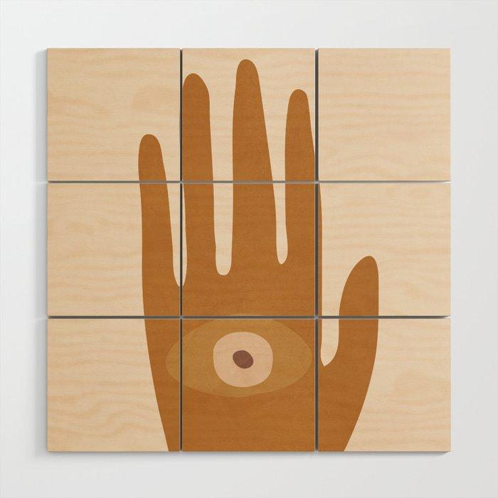 Hamsa Hand Wood Wall Art