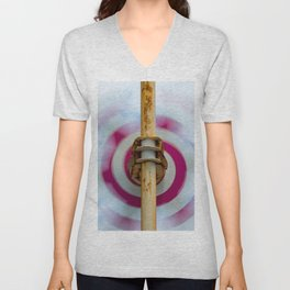 Sky clouds and helical color Unisex V-Neck