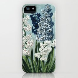 Hyacinths Botanical Plate from The Temple of Flora iPhone Case