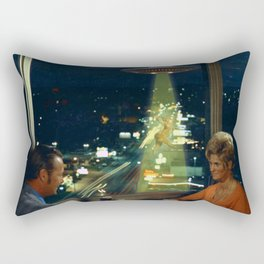 Meow! Cat abduction Rectangular Pillow