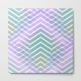 Chevron Waves Metal Print