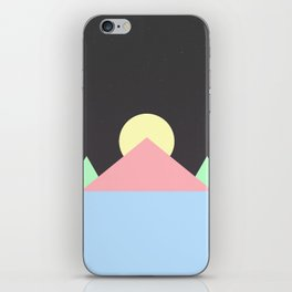 Pastel Space Pyramids iPhone Skin