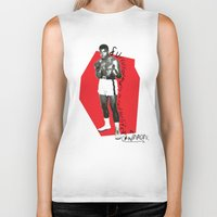 ali Biker Tanks featuring Ali by Dayle Kornely